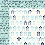 Kaisercraft - Summer Splash Collection - 12 x 12 Double Sided Paper - Beach Huts