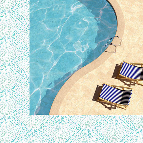Kaisercraft - Summer Splash Collection - 12 x 12 Double Sided Paper - Poolside