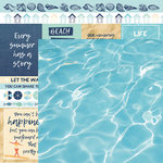 Kaisercraft - Summer Splash Collection - 12 x 12 Double Sided Paper - Sun Seeker