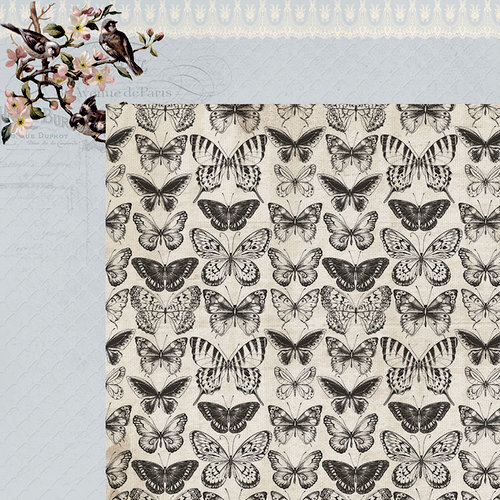 Kaisercraft - Romantique Collection - 12 x 12 Double Sided Paper - Primrose