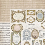 Kaisercraft - Romantique Collection - 12 x 12 Double Sided Paper - Symphony