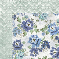 Kaisercraft - Wandering Ivy Collection - 12 x 12 Double Sided Paper - Blue Fields