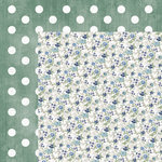 Kaisercraft - Wandering Ivy Collection - 12 x 12 Double Sided Paper - Blue Posy