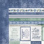 Kaisercraft - Wandering Ivy Collection - 12 x 12 Double Sided Paper - Blessings