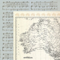Kaisercraft - Open Road Collection - 12 x 12 Double Sided Paper - Atlas