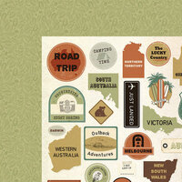 Kaisercraft - Open Road Collection - 12 x 12 Double Sided Paper - Outback