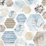Kaisercraft - Beach Shack Collection - 12 x 12 Double Sided Paper - Sea Change