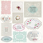 Kaisercraft - Miss Betty Collection - 12 x 12 Double Sided Paper - Handkerchief