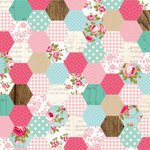 Kaisercraft - Miss Betty Collection - 12 x 12 Double Sided Paper - Sewing