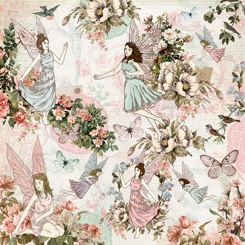 Kaisercraft - Fairy Garden Collection - 12 x 12 Double Sided Paper - Fairy Dance