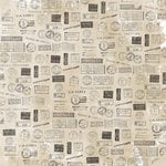 Kaisercraft - Pen and Ink Collection - 12 x 12 Double Sided Paper - Stamps