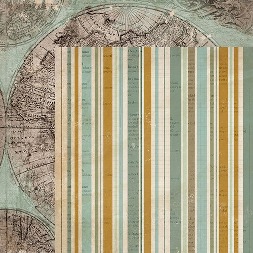 Kaisercraft - Anthology Collection - 12 x 12 Double Sided Paper - Cartography