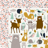 Kaisercraft - Hide and Seek Collection - 12 x 12 Double Sided Paper - Woods