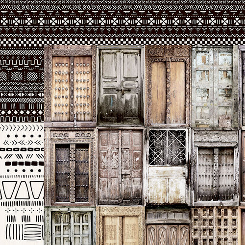 Kaisercraft - Gypsy Rose Collection - 12 x 12 Double Sided Paper - Doors