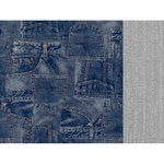 Kaisercraft - Mountain Air Collection - 12 x 12 Double Sided Paper - Blue Jeans