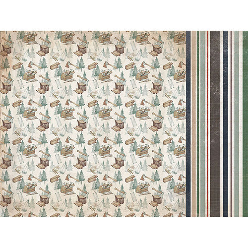 Kaisercraft - Mountain Air Collection - 12 x 12 Double Sided Paper - Brave