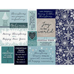 Kaisercraft - Wonderland Collection - Christmas - 12 x 12 Double Sided Paper - Snow Crystals