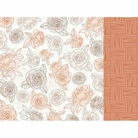 Kaisercraft - Peachy Collection - 12 x 12 Double Sided Paper - Honey Flower
