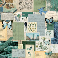 Kaisercraft - Scrap Studio Collection - 12 x 12 Double Sided Paper - Authentic