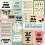 Kaisercraft - Scrap Studio Collection - 12 x 12 Double Sided Paper - Frayed