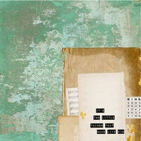 Kaisercraft - Scrap Studio Collection - 12 x 12 Double Sided Paper - Tarnished