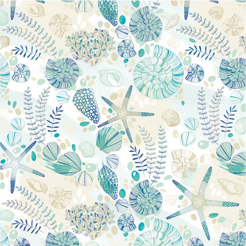 Kaisercraft - Deep Sea Collection - 12 x 12 Double Sided Paper - Tide