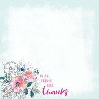 Kaisercraft - Blessed Collection - 12 x 12 Double Sided Paper - Give Thanks