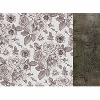 Kaisercraft - Rosabella Collection - 12 x 12 Double Sided Paper - Sombre Botanic