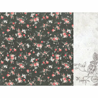 Kaisercraft - Rosabella Collection - 12 x 12 Double Sided Paper - Magestic Dusk