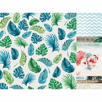 Kaisercraft - Paradise Found Collection - 12 x 12 Double Sided Paper - White Sands