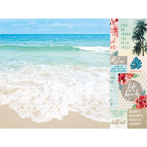 Kaisercraft - Paradise Found Collection - 12 x 12 Double Sided Paper - Tides