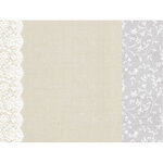 Kaisercraft - Two Souls Collection - 12 x 12 Double Sided Paper - Lace Trim