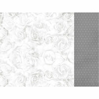 Kaisercraft - Two Souls Collection - 12 x 12 Double Sided Paper - White Rose