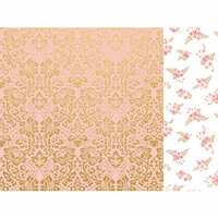 Kaisercraft - With Love Collection - 12 x 12 Double Sided Paper - A Note to Say with Foil Accents