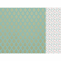 Kaisercraft - With Love Collection - 12 x 12 Double Sided Paper - Best Wishes with Foil Accents