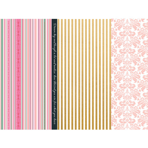 Kaisercraft - With Love Collection - 12 x 12 Double Sided Paper - Thinking of You with Foil Accents