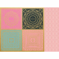 Kaisercraft - With Love Collection - 12 x 12 Double Sided Paper - Hugs & Kisses with Foil Accents