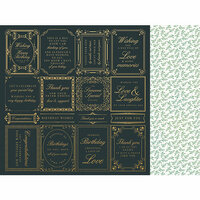 Kaisercraft - With Love Collection - 12 x 12 Double Sided Paper - Just Because with Foil Accents