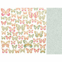 Kaisercraft - With Love Collection - 12 x 12 Double Sided Paper - All My Love with Foil Accents