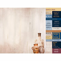 Kaisercraft - Journey Collection - 12 x 12 Double Sided Paper - Meanderer
