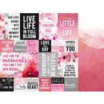 Kaisercraft - Magenta Collection - 12 x 12 Double Sided Paper - Rouge