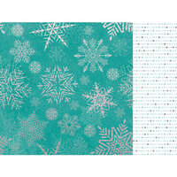 Kaisercraft - Christmas - Let It Snow Collection - 12 x 12 Double Sided Paper With Foil Accents - Falling Snowflakes