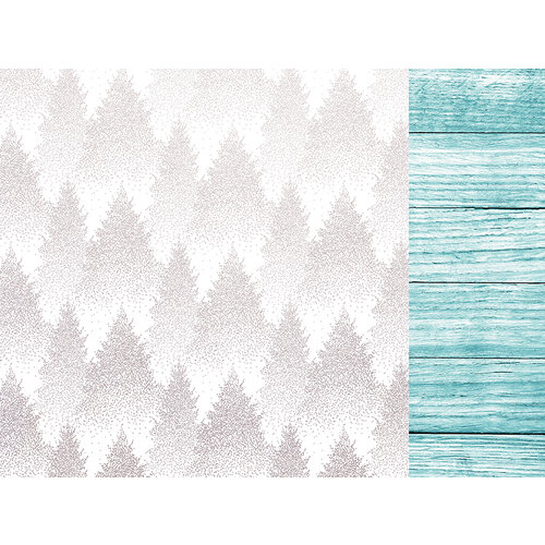 Kaisercraft - Christmas - Let It Snow Collection - 12 x 12 Double Sided Paper With Foil Accents - Pine Forest