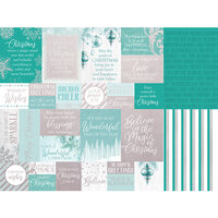 Kaisercraft - Christmas - Let It Snow Collection - 12 x 12 Double Sided Paper With Foil Accents - All Is Calm