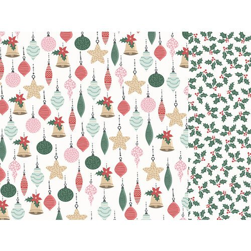 Kaisercraft - Christmas - Peppermint Kisses Collection - 12 x 12 Double Sided Paper - Bright Baubles