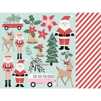 Kaisercraft - Christmas - Peppermint Kisses Collection - 12 x 12 Double Sided Paper - Santa and Co