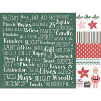 Kaisercraft - Christmas - Peppermint Kisses Collection - 12 x 12 Double Sided Paper - Ho Ho Ho