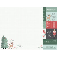 Kaisercraft - Christmas - Peppermint Kisses Collection - 12 x 12 Double Sided Paper - Under the Tree