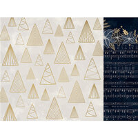 Kaisercraft - Christmas - Starry Night Collection - 12 x 12 Double Sided Paper With Foil Accents - Glowing