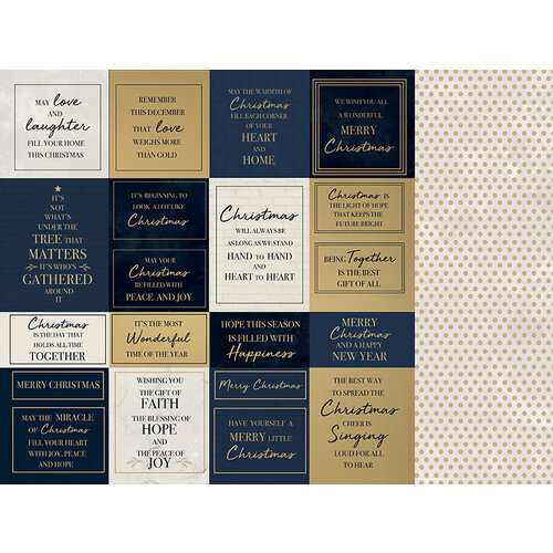 Kaisercraft - Christmas - Starry Night Collection - 12 x 12 Double Sided Paper With Foil Accents - Radiant